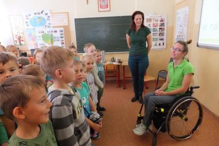 Spotkanie z P. Olą Ulerych z okazji Światowego Dnia Dziecięcego Porażenia M�
